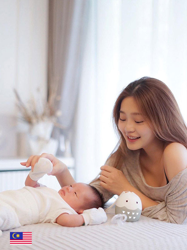 To keep our babies healthy and safe from harmful bacterias with JJOBI pacifier. - by  @xtineling_makeup