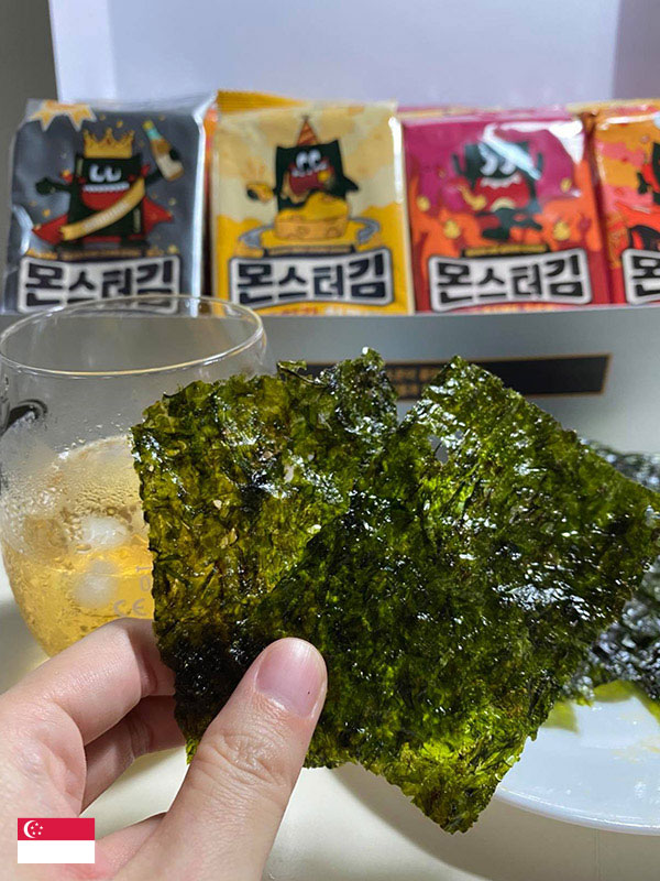 """""""PERFECT Match! Healthy snack Korean Seaweed with Beer"""" -by @yishufamily"""
