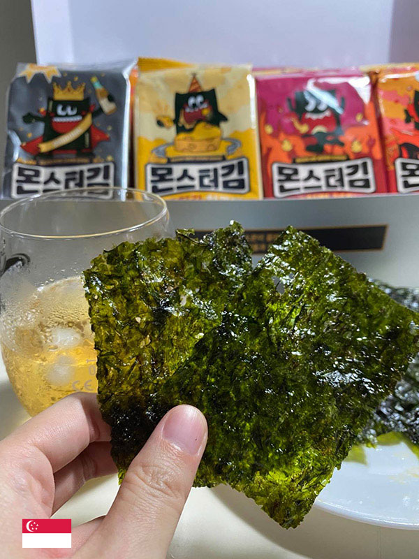 """""""Monstergim Premium Grilled Seaweed Snack is fully packed with goodness and simply irresistible."""" - by @yishufamily"""