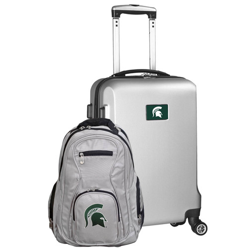 Michigan State Spartans Deluxe 2-Piece Backpack and Carry on Set