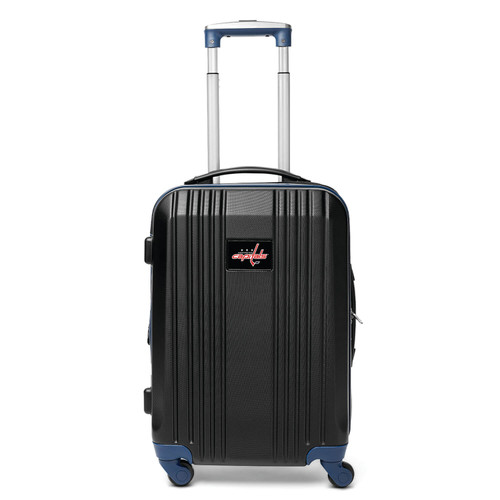 Capitals Carry On Spinner Luggage   Washington Capitals Hardcase Two-Tone Luggage Carry-on Spinner in Navy