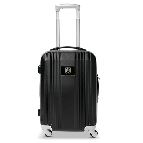 Golden Knights Carry On Spinner Luggage | Vegas Golden Knights Hardcase Two-Tone Luggage Carry-on Spinner in Black