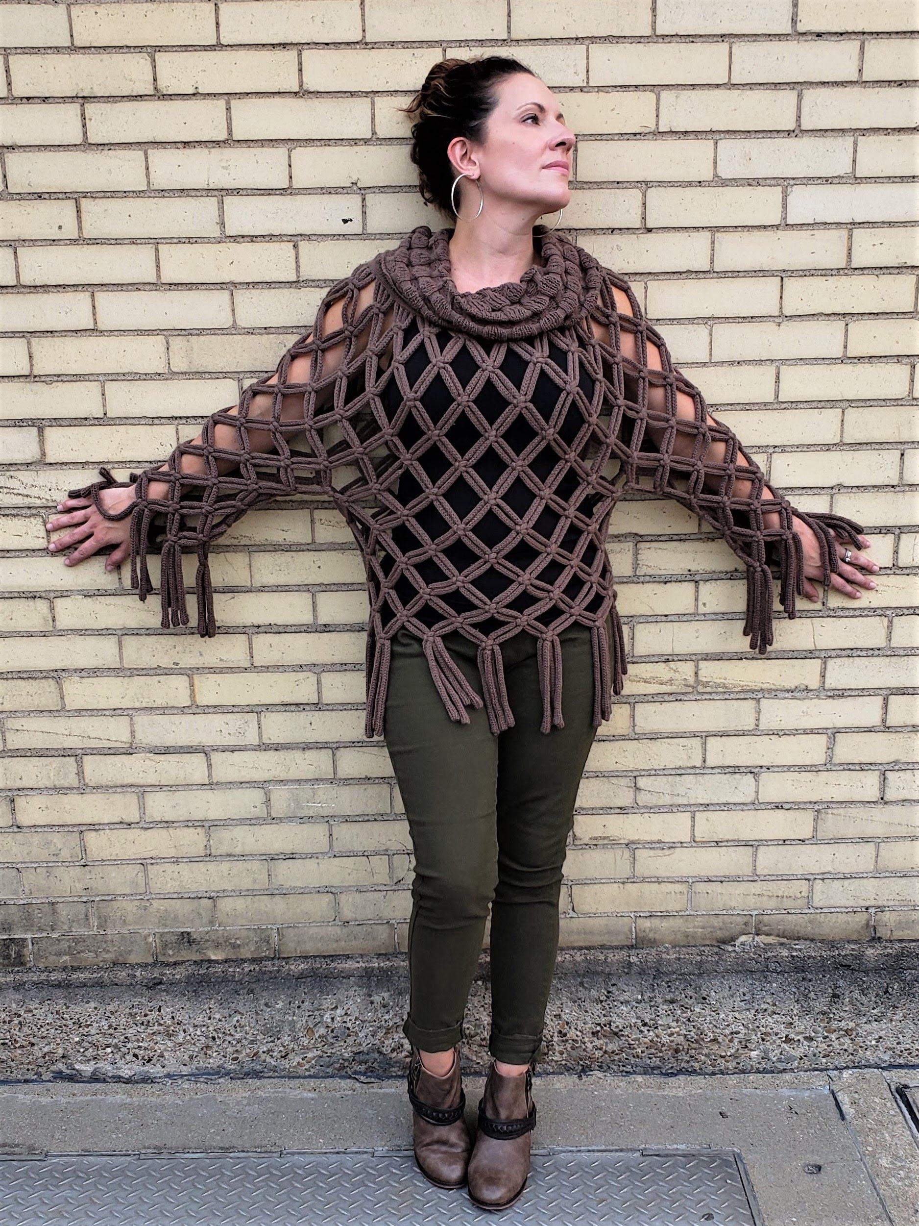 Cowl Neck Crochet Top