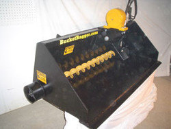 Bucket Bagger Dual Fill for Skid Steer, Sandbag Filling Equip.