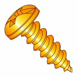 "10 x 3/4"" Solid Brass Sheet Metal Screw Combo Head (Box of 25)"