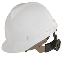 V-Gard Cap Style Hard Hat, Slotted,FasTrac Ratchet Susp. White