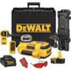 DeWalt 18V Cordless XRP Self-Leveling Int/Ext Rotary Laser Kit
