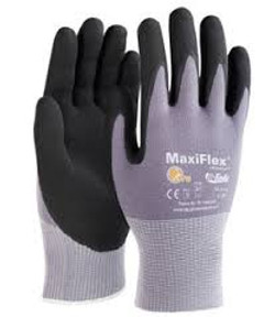 Dotted Micro-Foam Nitrile Gloves - Large (1 Dozen)