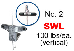 """Gripple No. 2 x 5' Toggle (1/4"""") Trapeze Hanger (Pack of 10)"""