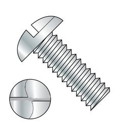 """10-24 x 3/4"""" One Way Round Head Machine Screw Zinc Plated"""
