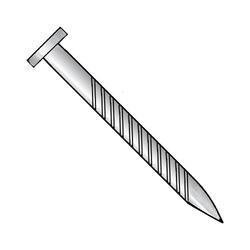 10 x 2 1/2 Flat Screw Nail Zinc Plated (50 per Box)