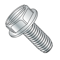 8-32 x 1/2 Slotted H/W Zinc Plated Swageform®