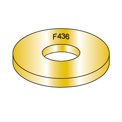 1/4 F436 Structural Flat Washer Zinc/Yellow