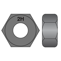 2h heavy hex nut structural
