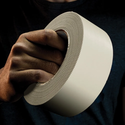 """4"""" x 60 Yards White Polyethylene Tape"""