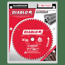 "carbide tipped circular saw blade,7-1/4"" circular blade for aluminum,5/8"" Arbor with Diamond Knockout,aluminum blade,thick aluminum blade"