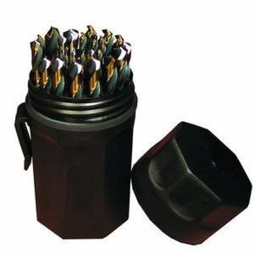 SP-29P Ultra-Dex Drill Set, Jobber Length, Black & Gold, 29pc