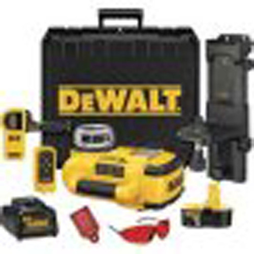 DeWalt 18V Cordless XRP Self-Leveling Int/Ext Rotary Laser Kit