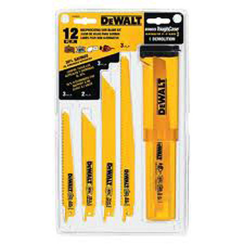 DEWALT DW4892 Reciprocating Saw Blade Set with Case, 12-Piece