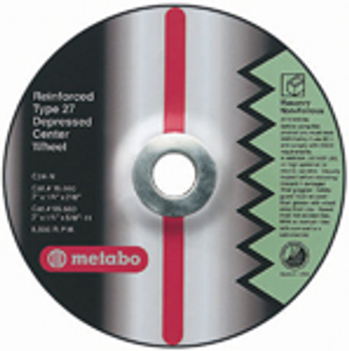 "Metabo 4 1/2"" x 1/4"" x 7/8"" Type 27 Grinding Wheel"