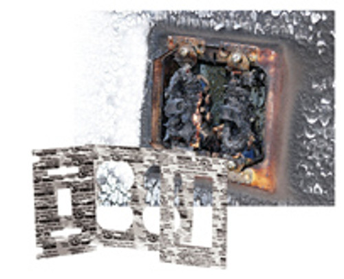 Metacaulk double Receptacle (case of 50) Cover Guard