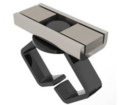 "3/4"" Medium Black Rectangular Cable Holder (Pack of 5)"