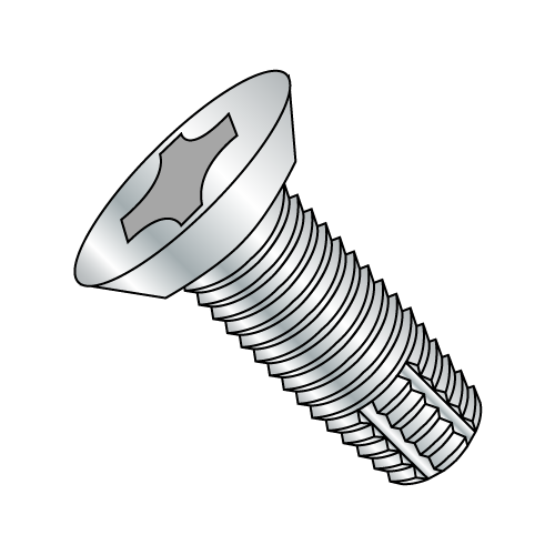 "12-24 x 1/2"" Phillips Flat Undercut Hinge Screw Zinc Plated"