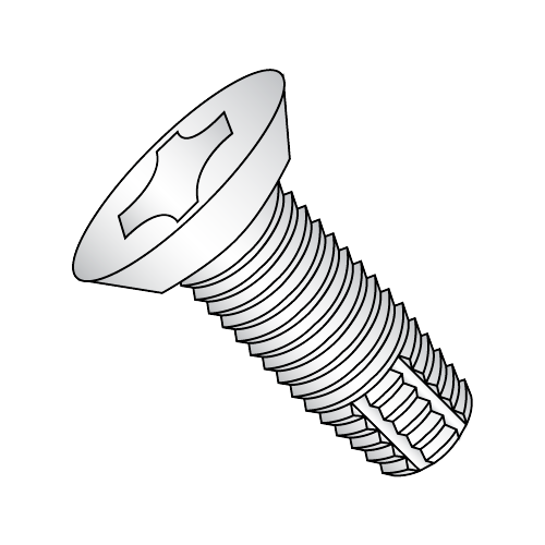 "12-24 x 1/2"" Phillips Flat Undercut Hinge Screw Chrome Plated"