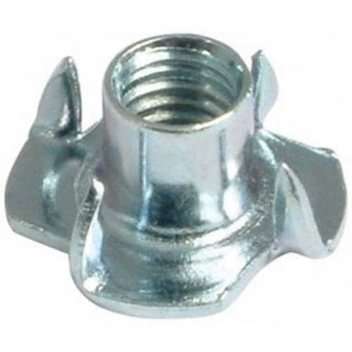 """5/16-18 x 3/8"""" 4 Prong Tee Nut Zinc Plated (Box of 100)"""