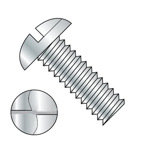 """1/4-20 x 1/2"""" One Way Round Head Machine Screw Zinc Plated"""