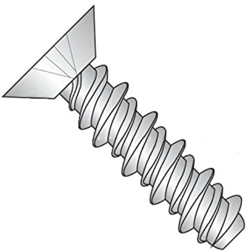 2 x 1/4 Phil Flat Hi-Low Thread Forming for Plastic Zinc (Box of 50)