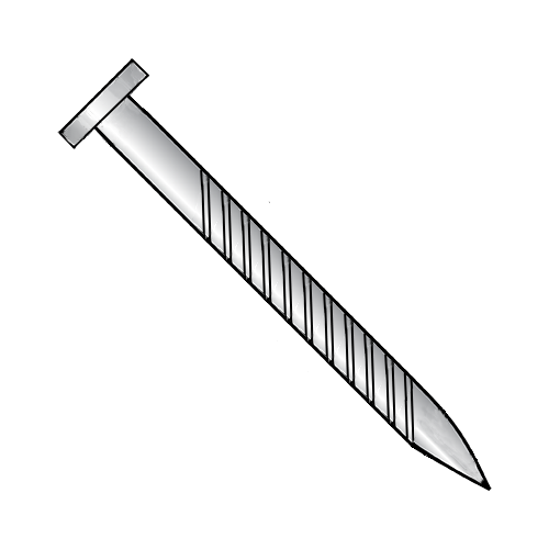 14 x 1 Round Head Screw Nail Zinc Plated (100 per Box)