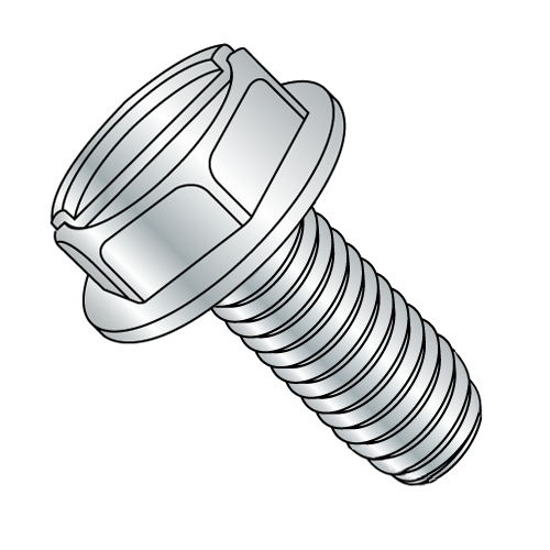 10-32 x 3/8 Slotted H/W Zinc Plated Swageform®