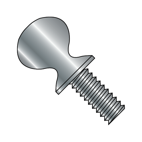 "10-24 x 3/4"" 'S' Thumb Screw Plain (Box of 25)"