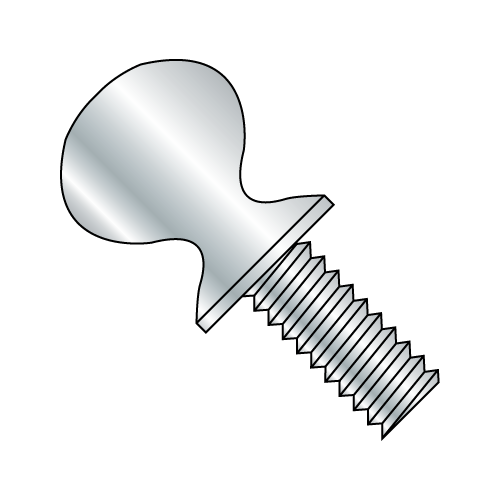 "6-32 x 1/2"" 'S' Thumb Screw Zinc Plated (Box of 50)"