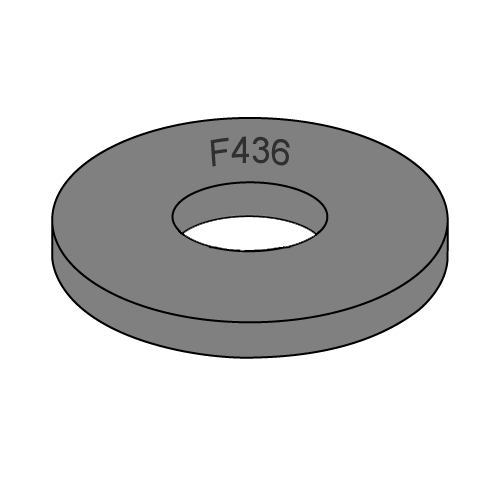 f436 structural flat washer