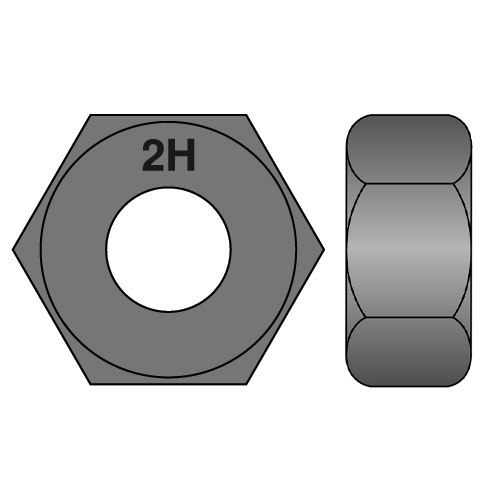 2h a194 structural heave hex nut