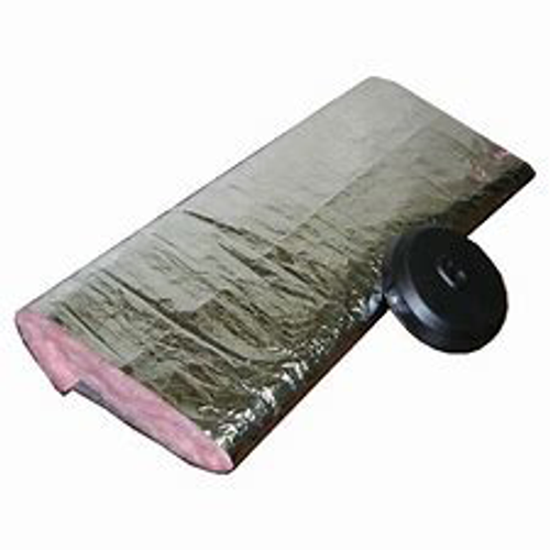 "Atco 4"" UPC #010 Insulated UL181 Sleeve Wrap (75' per Box)"
