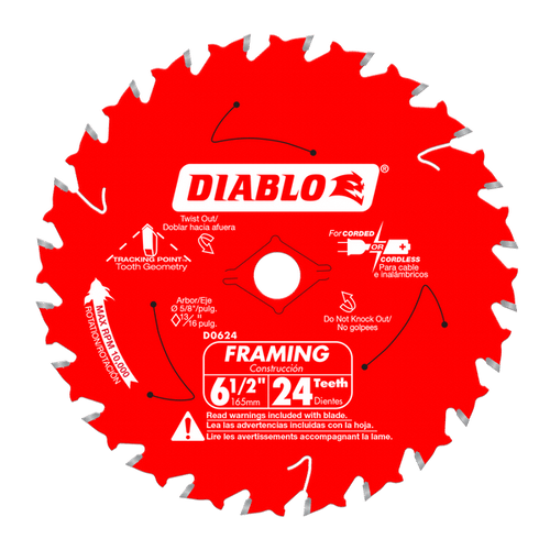 "carbide tipped circular saw blade,6"" circular blade for wood,framing blade,5/8"" Arbor,diamond knockout"