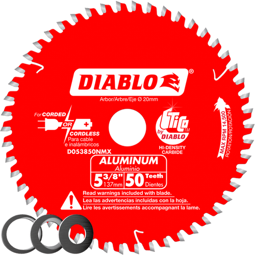 "carbide tipped circular saw blade,5-3/8"" circular blade for aluminum,20MM Arbor,aluminum blade,1/2"", 5/8"",10mm arbor,medium aluminum blade"