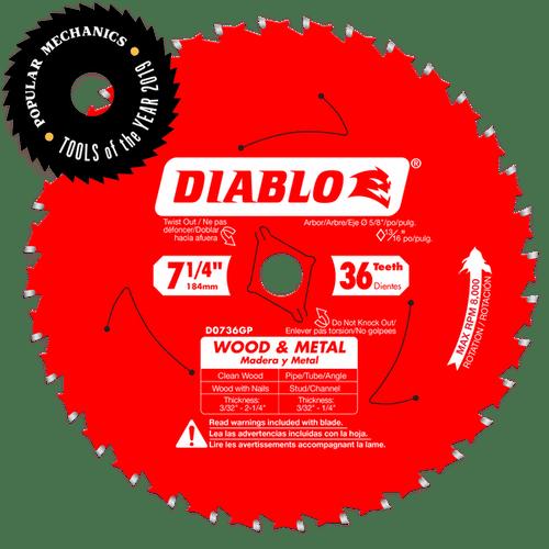 "carbide tipped circular saw blade,7-1/4"" circular blade for wood,Metal blade,5/8"" Arbor,diamond knockout"
