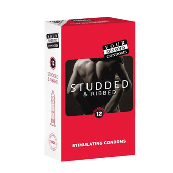Four Seasons Studded and Ribbed (12 Condoms) RETAIL PACK