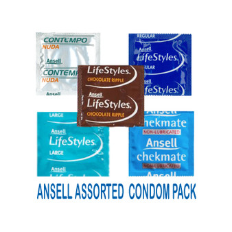 Ansell Assorted Condom Pack