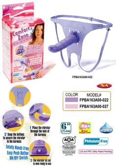 Comfort Zone Wireless Strap-On Vibrator (Lavender)