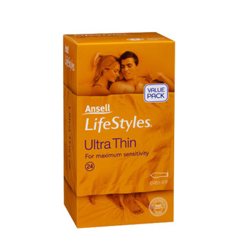 Ansell Lifestyles Ultra Thin 24 Condoms (RETAIL PACK)