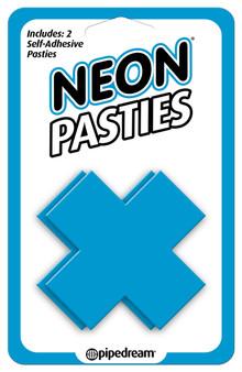Neon X Pastie - Blue