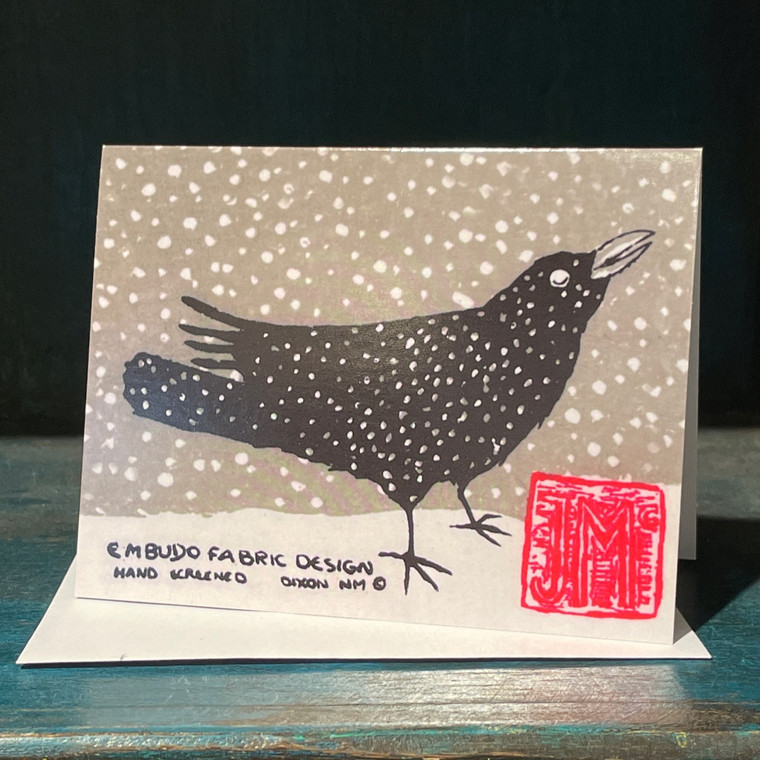 Card, Raven In Snow