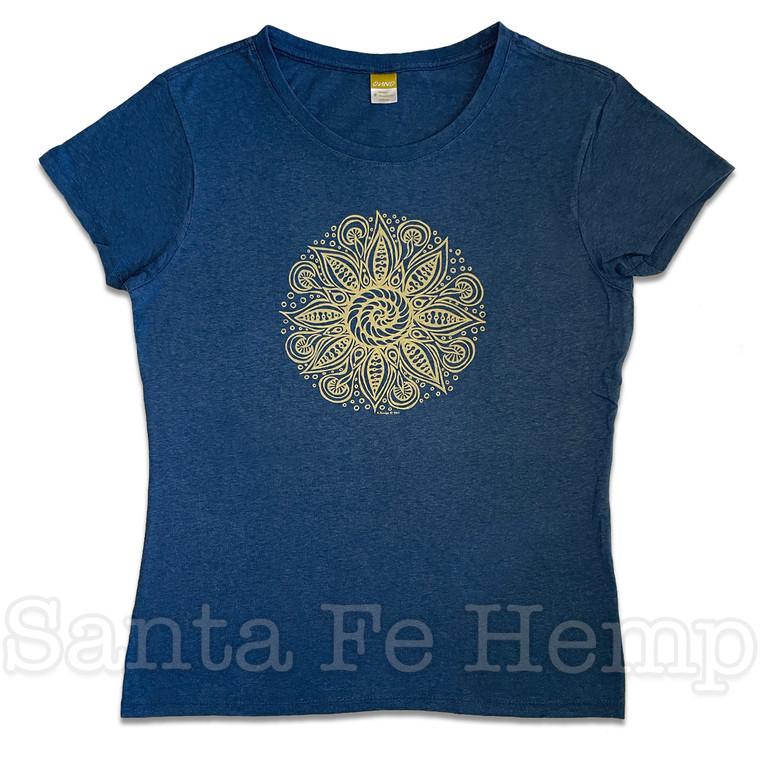 Spiral Mandala Tee Shirt, Scoop Neck