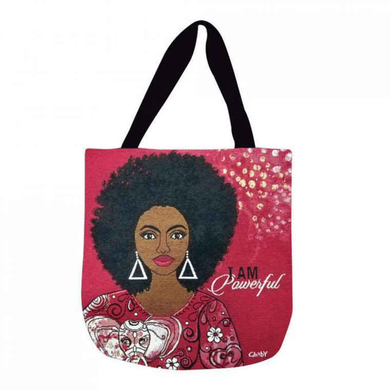 I Am Powerful Woven Tote Bag