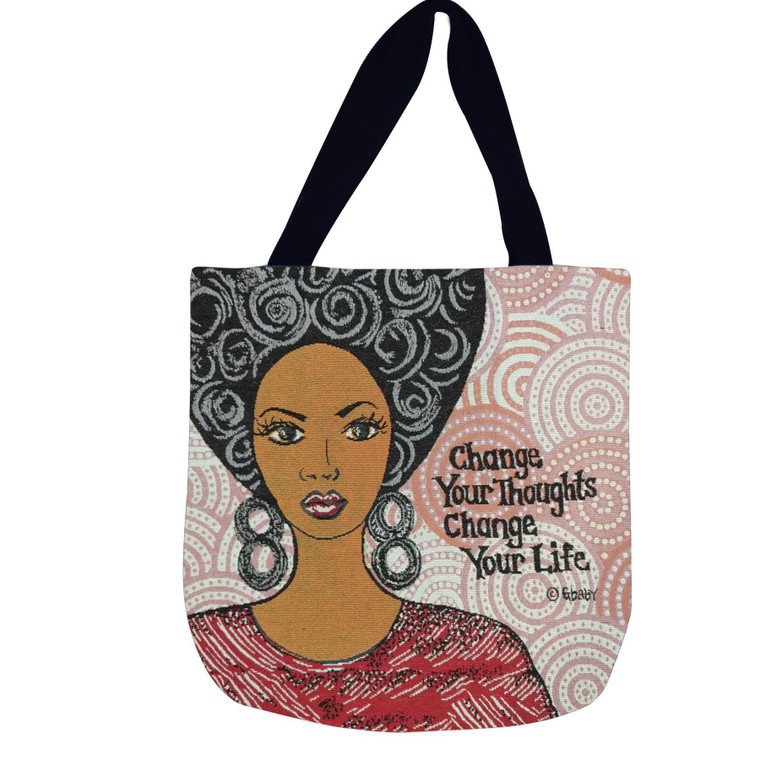 Change Your Thoughts Change Your Life Woven Bag
